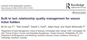 Relationship quality of professional sport organizations